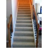 carpete para escada preço Jardim Paulistano