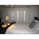 cortina de tecido com blackout para quarto Zona oeste