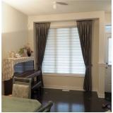 cortina de tecido com persiana preço Campo Belo