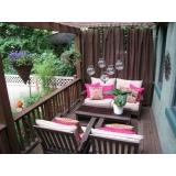 cortina de tecido para varanda Casa Verde