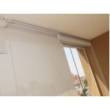 cortina rolo com trilho deslizante preço Jabaquara