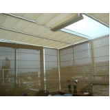 cortina romana de teto Jardins
