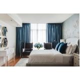 cortinas de tecido com blackout para quarto Água Branca