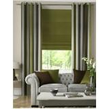 cortinas de tecido com persiana Moema
