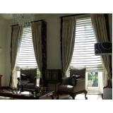 cortina de tecido com persiana