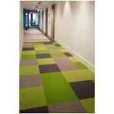 instalação de carpete em placas para piso elevado Cursino