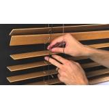 manutenção de persianas de madeira