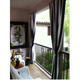 quanto custa cortina de tecido para varanda Parque Colonial